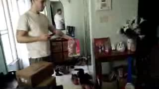 Easter Bunny Delivers Chocolate to father. - Video