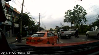 Moped Passenger Fail - Video