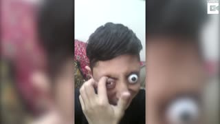 Pakistani Teens Amazing 'Eye Popping' Skills - Video