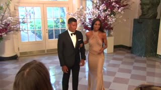 Ciara and NFL Quarterback Russell Wilson attend State Dinner for Japan's PM - Video