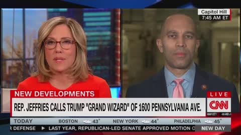"CNN Host Calls Out Rep. Jeffries Over Calling Trump A ""Grand Wizard"""