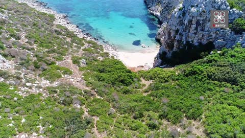 Drone captures secret exotic paradise island in Greece