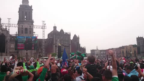 Fans in Mexico celebrate World Cup team