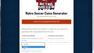 [WORKING] Retro Soccer Hack V1.2a - Unlimited Coins! - Video