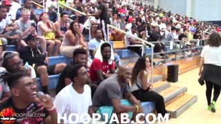 James Harden Gets In Fight with Fan Over Flopping at Drew League Game - Video