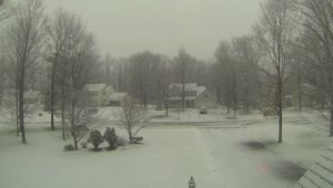 Cool snowfall time lapse  - Video