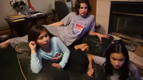 My Girls reciting the Preamble of the US Constitution