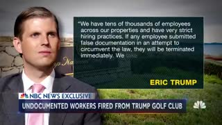 Fired Trump golf club worker in US illegally 'thinks' Trump knew illegal immigrants were employed