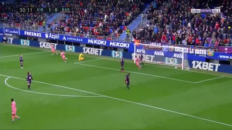 Gol de Messi vs Eibar (1-1)