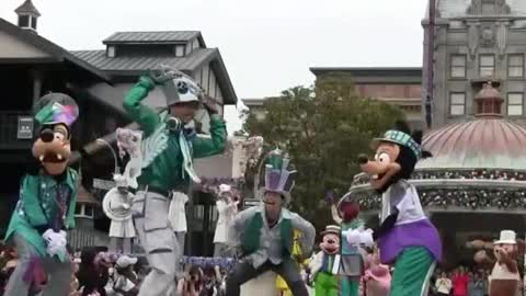 Special Disney Land Party On Street