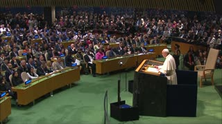 At U.N., Pope attacks 'boundless thirst' for wealth, power - Video