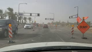 Dust Storm Blocks Out Traffic - Video