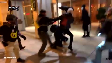 People getting Fed up with Antifa, fighting fire with fire