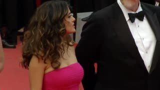 Salma Hayek Defends Cannes Protest - Video