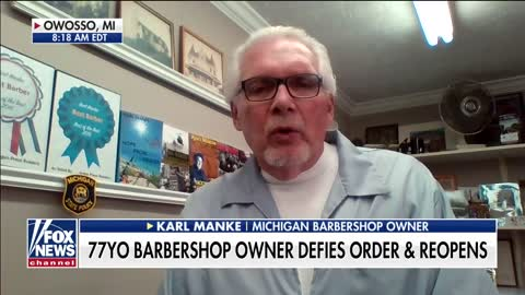 Michigan barber issued citations for opening up his business