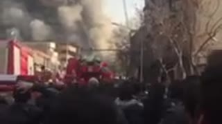 Tehran fire Plasco building collapses, 30 feared dead - Part 5 - Video