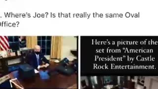 Fake Biden, fake oval office