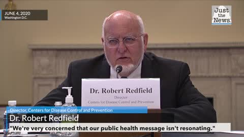 """Dr. Redfield of CDC worried """"our public health message isn't resonating."""""""
