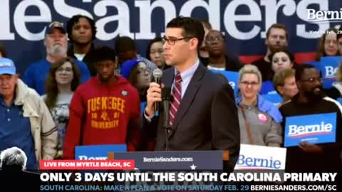 Florence South Carolina Mayor Stephen Wukela cheers Bernie Sanders being called socialist