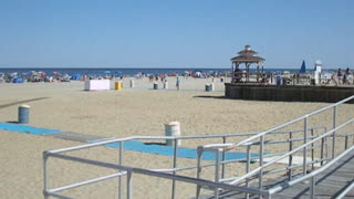 BOARDWALK VIEW AT BRADLEY BEACH NJ - New Jersey Shore Ocean Travel - Video