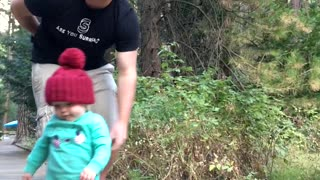This Guy's Dad Instincts Instantly Kicked In When His Baby Was About To Fall - Video