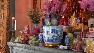Religious ceremony at an ancient temple in northern Vietnam