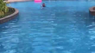 Scarlet Doing his Swimming Lesson