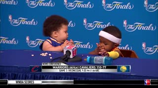 Baby curry vs baby lebron