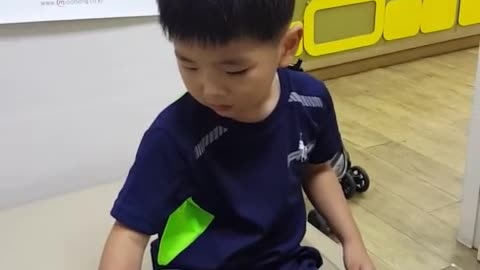 Toddler is as tough as a man