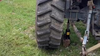 Tractor Tire Instantly Inflates via Flame