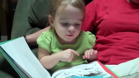 2-year-old's animated reading of Dr. Seuss book