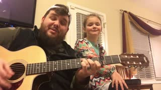 Daddy daughter duo cover 'Love Yourself' by Justin Bieber - Video