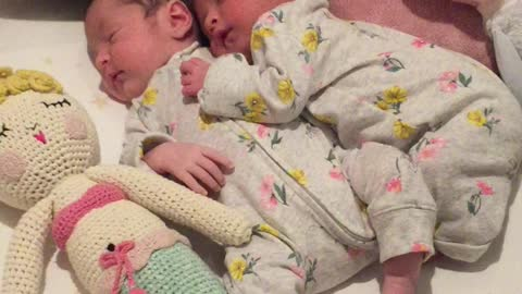 Precious Video Of 19-Day-Old Twins Cuddling Each Other Stole Our Hearts