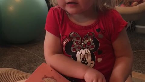 Girl Screams Bed Time Story To Her Unborn Sister