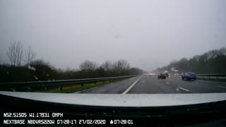 Car Loses Control on its Way to London