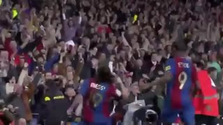 Messi's first ever hat trick