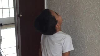 Dad Pulls Card and Wall Prank on Son