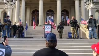 Day 8 STOP THE STEAL Rally at Michigan State Capitol Lansing Video 5