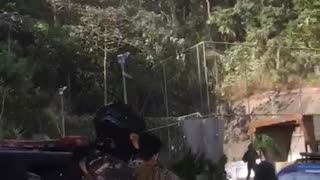 Brazilian Army Invading Favela - Video