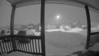 Terrifying Blizzard Buries Town over Time-Lapse