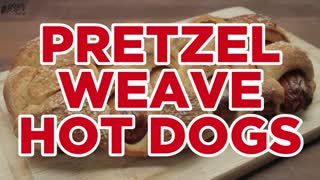 Pretzel Weave Hot Dogs - Full Recipe - Video