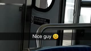 Nice guy man kicks subway doors - Video