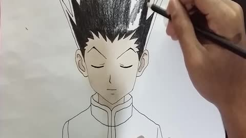 Speed drawing - Gon Freecss from hunter x hunter