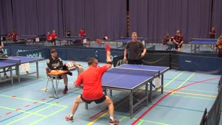 Unbelievable ping pong shot stuns opponent - Video
