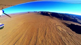 Flight through Monument Valley