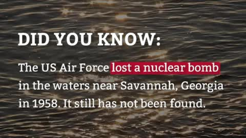 DYK: The US Air Force lost a bomb WHERE?