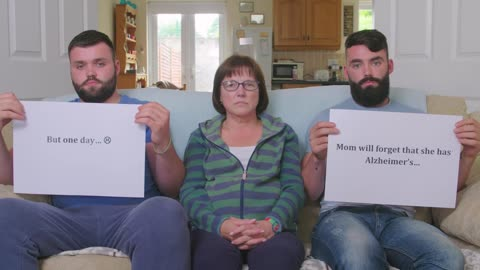 Sons message to mother who has early onset Alzheimer's