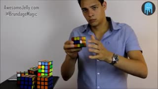 America's Got Talent Rubik's Cube Magician Stephen Brundage Solves 8 Rubik's Cubes in 1-Minute - Video