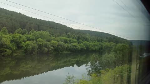 Fascinating beauty of Russian nature from the train window