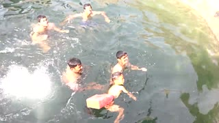 How to help children learn to swim- video Pune India